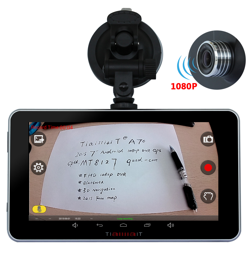 Aliexpress com buy junsun new 7 android auto camera car dvr camera video recorder gps navigation navigator bluetooth wifi mt8127 quad core sat nav from