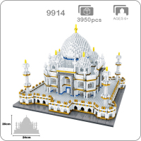 2019 World Famous Architecture India Taj Mahal Palace 3D Model Diamond Mini DIY Micro Building Nano Blocks Bricks Toy Collection