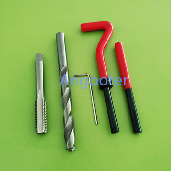 25 Uds M5 * 0,8 Herramienta De Taladro De Bobina Para Coche Pro Kit De Inserción De Reparación De Rosca Métrica Para Herramientas De Reparación De Helicoil Para Coche