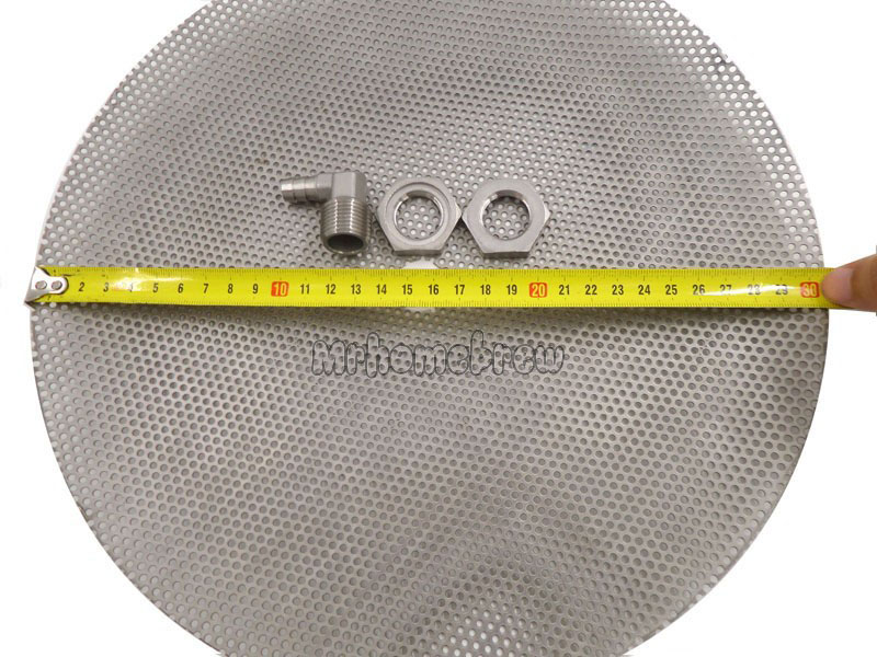 Diameter 30.5cm 12'' Stainless Steel False Bottom for Homebrew Pot - Converts Into a Mash Tun Equipment Kettle