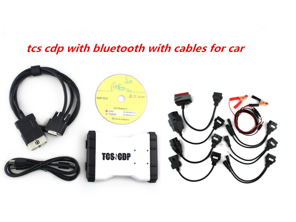 Подробнее о New version 2015R3 with keygen in CD ! LED CDP TCS CDP Pro with bluetooth for  cars and trucks 3 in 1+full 8 car cables 3pcs lot new design tcs cdp plus without bluetooth for cars trucks and obd2 new verison 2015 3 install video in cd