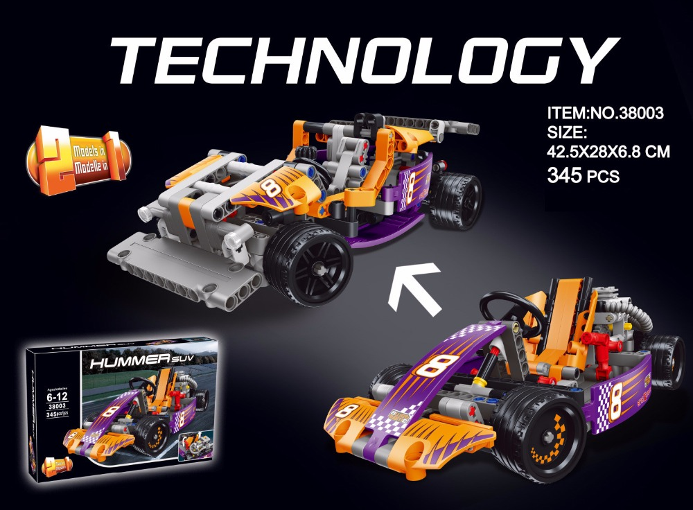 Hot technics technology race kart racing 2in1 building block F1 cars model bricks 42048 educational toys for boys gifts hot technician technics extreme adventure 2in1 building block remote control tracked vehicle rc cars bricks 42069 toys for kids