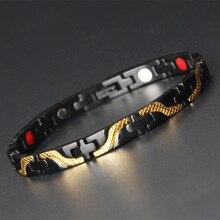 Magnetic Men Women Bracelets Black Ceramic Color Pure Copper Arthritis Healing Jewelry Brand Homme