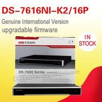 무료 배송 DS-7616NI-K2/16 마력 영어 버전 임베디드 플러그 및 재생 4 천개 NVR POE H.265, 2 SATA 16 POE 최대 8MP 카메