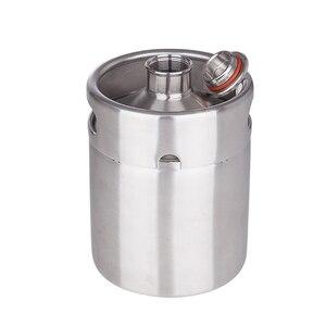 Image 4 - 新しい到着した304ステンレス鋼5l/3.6l/2lミニ樽ビールgrowlerポータブルビールボトルホームビール作りバーアクセサリーツール