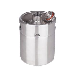 Image 4 - New arrived 304 Stainless Steel 5L/3.6L/2L Mini Keg Beer Growler Portable Beer Bottle Home Beer Making Bar Accessories Tool