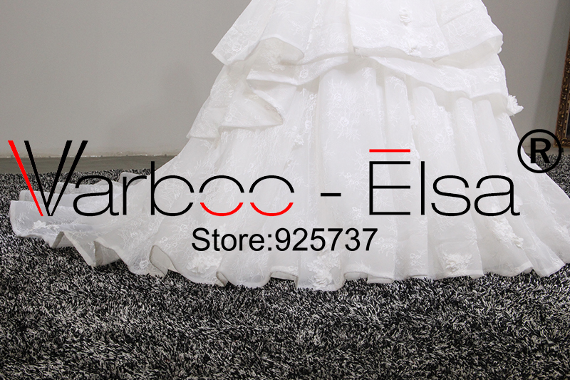 Varboo_els Romantic Sweetheart Wedding Dress White Organza Lace Embroidery Bridal Ball Gown 2018 Sexy Off Shoulder Wedding Gowns Professional Design Wedding Dresses