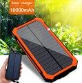 Новый powerbank 100% Оригинальный Солнечное Зарядное Устройство Реальная емкость 10000 мАч Портативный банк силы Dual USB Порт Внешнее Зарядное Устройство