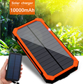 Novo 100% powerbank Carregador Solar Original Real capacidade 10000 mAh Portátil Power bank Dual USB Porta Carregador de Bateria Externa