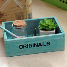 Handmade Flowerpot Natural Intimate Multifunctional Organizer Wooden Storage Box Holder Vintage Rustic Antique Flowerpot Box