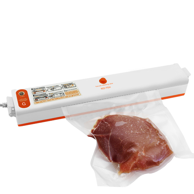 220 V/110 V Huishoudelijke Food Vacuum Sealer Verpakking Machine Film Sealer Vacuüm Verpakker Inclusief 10 Stuks Zakken