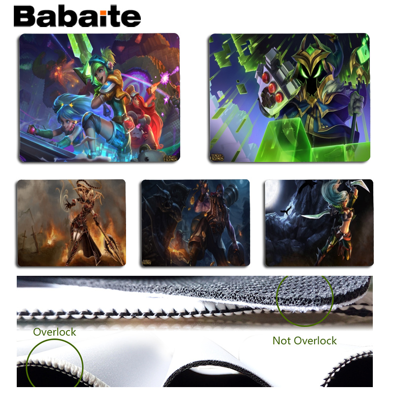 Babaite Your Own Mats Lol Large Mouse pad PC Computer mat Size for 18x22cm 25x29cm Rubber Mousemats