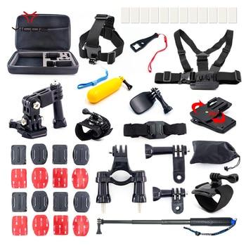Garmin Gopro Mount   Accessories Kit Tripod Strap Mount Case Self Stick ForGopro Hero 7 6 5 4 3+ Session Go Pro Xiaomi Yi 4k SJCAM SJ4000 SJ6 SJ7 Set