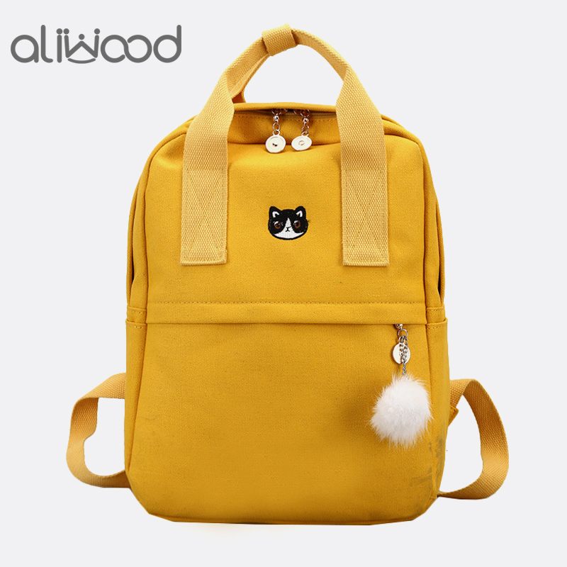 2814ac6aa7f0 Detail Feedback Questions about aliwood Harajuku embroidery Crown Women  Backpack College School bag Casual Canvas Female Backpack for adolescent  Girls ...