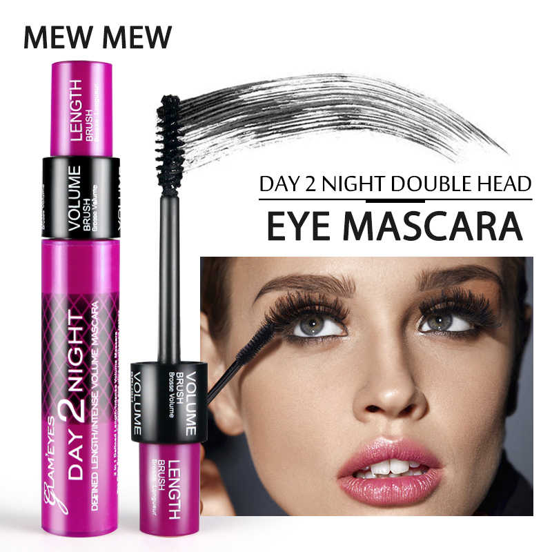 dcefeebb15a MEW MEW Waterproof 3D Mascara 2 in 1 Volume Lengthening Make Up 4D Silk Fiber  Eyelash