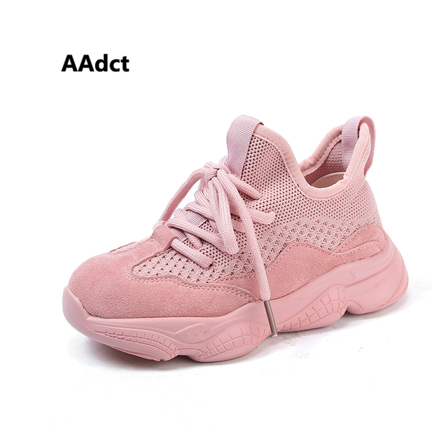 AAdct 2019 Brand girls shoes fashion running sports little kids shoes for boys sneakers spring new casual children shoes mesh