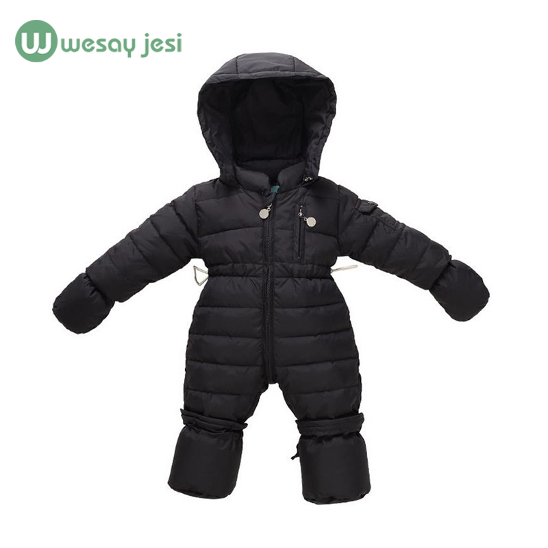 0-12M Newborn Boys Rompers Thick Warm Baby Snowsuit down long sleeve romper baby one piece Overalls Girls winter Infant Jumpsuit
