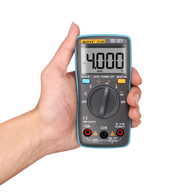 Electrical LCD Display Digital Multimeter Multifunction Voltmeter Ammeter Ohmmeter AC DC Tester 4000 Counts Backlight Auto Range ut118b mini multimeter excellent pen measuring electrical induction genuine universal backlight