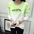Evolution Of Muay Thai Sweatshirt Winter Women 2016 Gradient Sweatshirts Women Print Hoody Fleece Print Tracksuit Hoodies