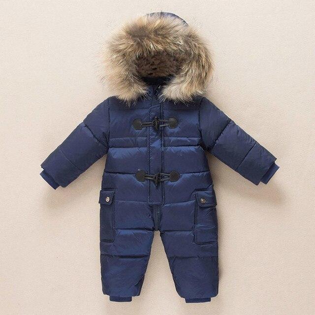 Winter Fur Hooded Snowsuit for Babies 1