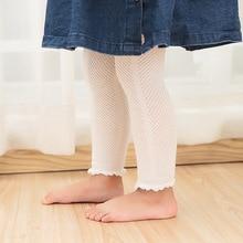 0-6 years old girl boy leggings 2018 summer autumn nine points pantyhose Knitting baby openwork mesh backing stockings