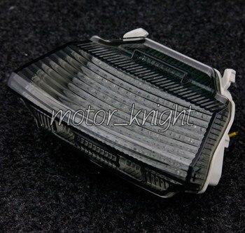 Встроенные светодиодные задние фонари с сигналом поворота для Kawasaski Ninja ZX10R 2010-2011, дымовой задний фонарь