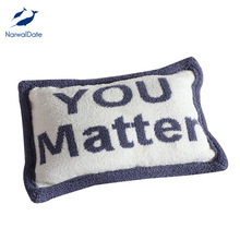 NarwalDate Ins Style Plush Pillow Chair Cushion Valentines Gift Show Love Nordic Soft Cute YOU MATTER