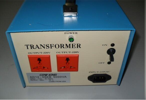 Free shipping! 5000W transformer 110V to 220V 5KW voltage converter, for 110V voltage countries using 220V machine