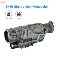 Yüksek kaliteli kızılötesi dijital 5x40 gece görüş dürbün  gece kapsamı kamera  termal olmayan Gen3 avcılık için kamuflaj monoküler