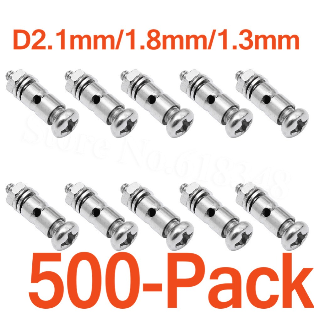 500x Push rods Connectors Linkage Stoppers D2 1mm D1 8mm D1 3mm For RC Plane Parts