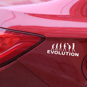 Image 4 - 15.4*6.3CM EVOLUTION Auto Body Decoratie Auto Vinyl Sticker Embleem Accessoires voor Chevrolet Aveo Trax Cruze Honda Civic volvo