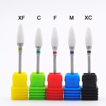 Hot Sell 1Pc High Quality Flame Ceramic Nail Drill Bit Rotary Burr For Electric Manicure Drill Nail Art Tools Nail Salon