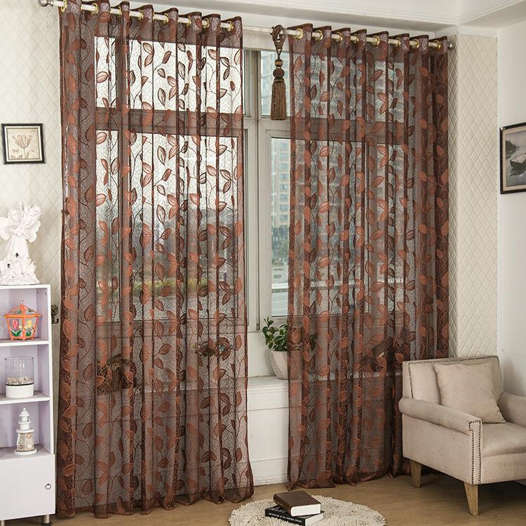 nueva moda de la alta calidad brown de la ventana cortinas modernos sala de