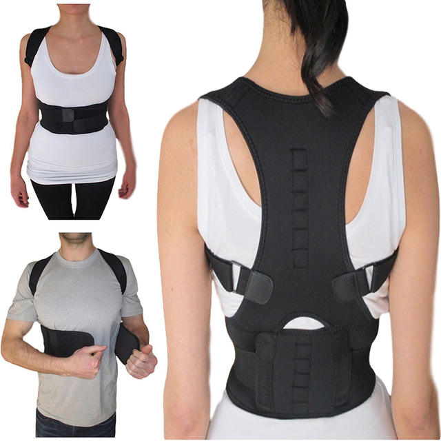 Magnetic Therapy Posture Corrector Adjustable men Women Back Support Belt Brace Shoulder Corre