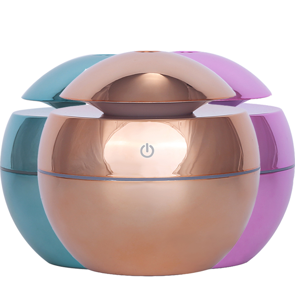 KAIPUTE 130ml USB Mini Ultrasonic Air Humidifier Aromatherapy Essential Oil Diffuser Air Cool Mist Humidifier Lacquer Painting