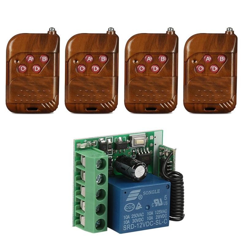 Universal Gate Remote Control Switch 433mhz DC 12V 1CH Relay Receiver Module and RF Transmitter 433 Mhz Wireless Remote Control 315mhz 433mhz ac 85v 250v 4ch rf wireless remote control switch 3pcs transmitter and receiver for rolling gate electric doors