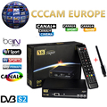 1 Ano Europa Servidor Cccam HD Freesat V8 Super DVB-S2 Satélite receptor Cccam Cline Completa 1080 P Itália Espanha Árabe Com USB Wi-fi