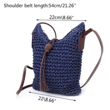 THIINKTHENDO Women Handbag Shoulder Bag Straw Weave Tote Purse Lady Beach Hobo Bag Crossbody