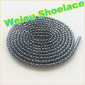 Weiou Black/Silver rope laces~Sneaker Shoe Laces~wholesale Metallic Yarn Polyester hiking boot laces Casual Sports Shoelaces