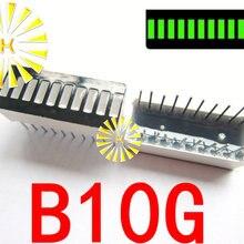 5PCSx 10 сегментный зеленый красный синий желтый нефрит зеленый белый цифровой светодиодный светильник 10*25 мм дисплей модуль B10G B10R B10BB