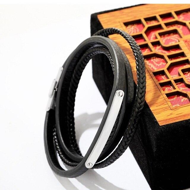 Фото мужские браслеты из нержавеющей стали кожаные золотого и серебряного цена