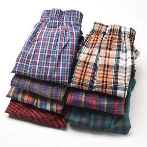 Image 4 - Men Underwear Cotton Boxers Loose Shorts 4 pcs/lot Mens Panties Big Short Breathable Flexible Shorts Boxers Home Underpants