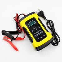 Automatische Smart 12V Auto Batterie Ladegerät 5A Mit LCD Display Mit Auto Impuls Reparatur Funktion Für AGM GEL Nass blei Säure Russische