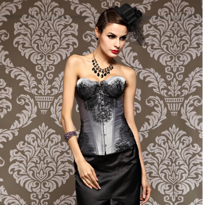 2ffe177f9 Sexy Corset Overbust Waist Trainer Corsets Top Body Shaper Embroidery  Gothic Corselet Plus Size Corsage Waist Cincher corselet-in Bustiers    Corsets from ...