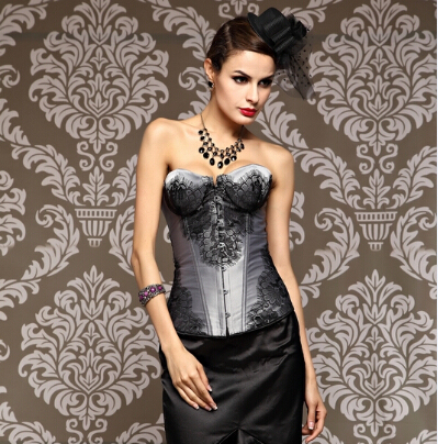 Sexy Corset Overbust Waist Trainer Corsets Top Body Shaper Embroidery Gothic Corselet Plus Size Corsage Waist Cincher corselet
