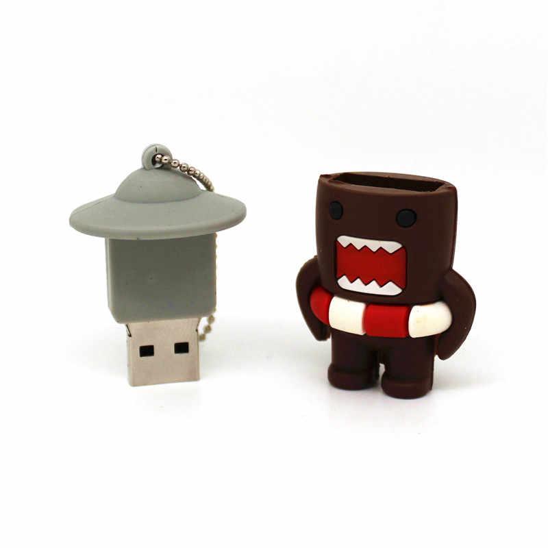 Cartone animato Giapponese Domo Kun U Disk Ragazza Bella Bambola Grande Insetto Creativo USB 4g 8g 16g 32g USB Flash Drive Bastone di Pen Drive di Memoria