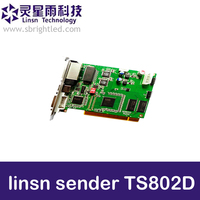 Free Shipping Linsn Sending Card TS802D Ts Sd802 Full Clolor Dvi Rj45 Port Sync Led Display