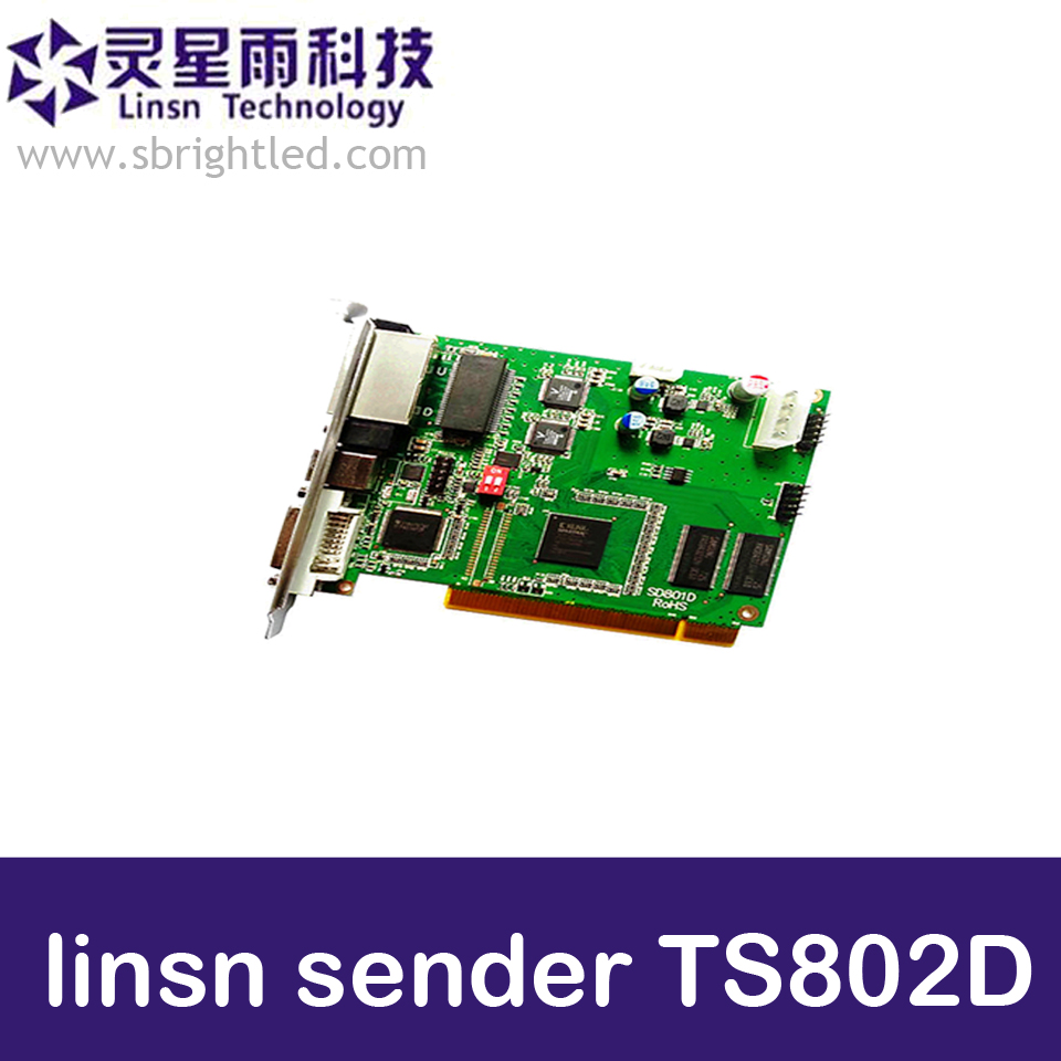 все цены на Linsn TS802D linsn sender TS802 LINSN controller sending card for LED video RGB full color display,install vdwall LVP605 etc. онлайн