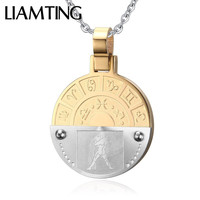 Liamting New Fashion Men Women Stainless Steel Necklace White Gold Punk Simple Design Chain Pendant DC002