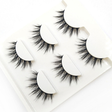 YOKPN 3 Pairs 1 Box Lashes Fashion 3D Stereo Fasle Eyelashes Simulation Makeup Fake Eye Lashes Short Eyelash Extension Tools